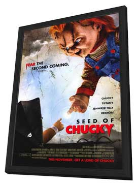 Child's Play 5: Seed of Chucky - 11 x 17 Movie Poster - Style B - in Deluxe Wood Frame