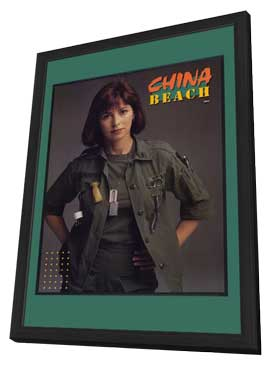 China Beach - 27 x 40 Movie Poster - Style A - in Deluxe Wood Frame