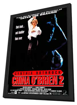 China O'Brien II - 11 x 17 Movie Poster - Style A - in Deluxe Wood Frame
