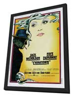 Chinatown - 27 x 40 Movie Poster - Italian Style A - in Deluxe Wood Frame