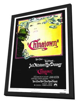 Chinatown - 27 x 40 Movie Poster - Style A - in Deluxe Wood Frame