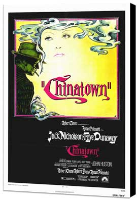 Chinatown - 27 x 40 Movie Poster - Style A - Museum Wrapped Canvas