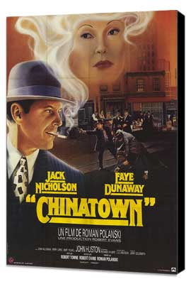 Chinatown - 27 x 40 Movie Poster - French Style A - Museum Wrapped Canvas