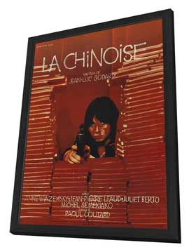 Chinoise, La - 27 x 40 Movie Poster - French Style A - in Deluxe Wood Frame