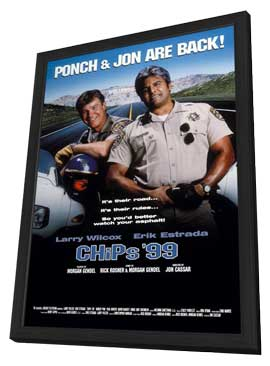 CHiPs '99 (TV) - 11 x 17 Movie Poster - Style A - in Deluxe Wood Frame