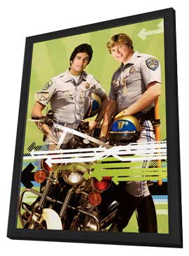 CHiPs - 11 x 17 Movie Poster - Style B - in Deluxe Wood Frame
