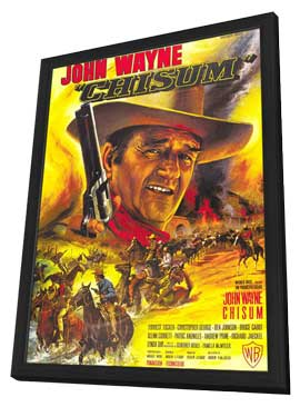 Chisum - 11 x 17 Movie Poster - French Style A - in Deluxe Wood Frame