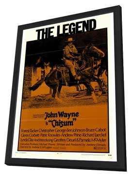 Chisum - 27 x 40 Movie Poster - Style A - in Deluxe Wood Frame
