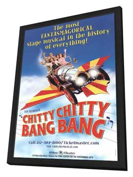 Chitty Chitty Bang Bang (Broadway) - 27 x 40 Poster - Style A - in Deluxe Wood Frame