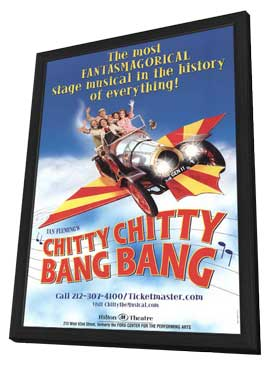 Chitty Chitty Bang Bang (Broadway) - 11 x 17 Poster - Style A - in Deluxe Wood Frame