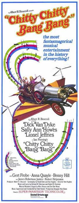 Chitty Chitty Bang Bang - 14 x 36 Movie Poster - Insert Style A