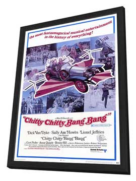Chitty Chitty Bang Bang - 11 x 17 Movie Poster - Style C - in Deluxe Wood Frame