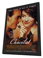 Chocolat - 11 x 17 Movie Poster - Style A - in Deluxe Wood Frame