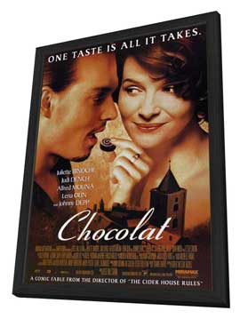 Chocolat - 27 x 40 Movie Poster - Style A - in Deluxe Wood Frame