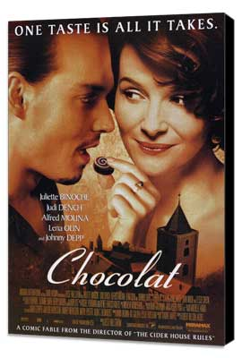 Chocolat - 27 x 40 Movie Poster - Style A - Museum Wrapped Canvas