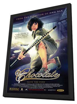 Chocolate - 11 x 17 Movie Poster - Style A - in Deluxe Wood Frame