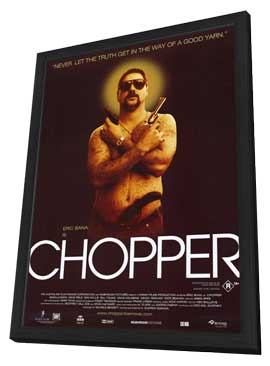 Chopper - 11 x 17 Movie Poster - Style B - in Deluxe Wood Frame
