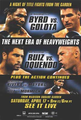 Chris Byrd vs Andrew Golota - 11 x 17 Boxing Promo Poster - Style A