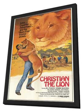 Christian the Lion - 11 x 17 Movie Poster - Style A - in Deluxe Wood Frame