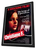 Christiane F. - 27 x 40 Movie Poster - Style A - in Deluxe Wood Frame