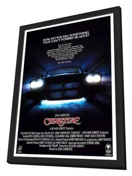 Christine - 11 x 17 Movie Poster - Style C - in Deluxe Wood Frame