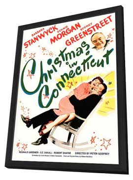 Christmas in Connecticut - 11 x 17 Movie Poster - Style A - in Deluxe Wood Frame