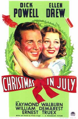 Christmas in July - 11 x 17 Movie Poster - Style A