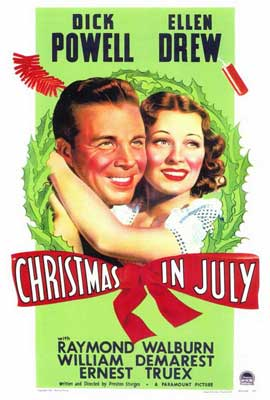 Christmas in July - 27 x 40 Movie Poster - Style A