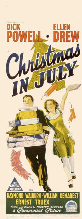 Christmas in July - 13 x 30 Movie Poster - Australian Style A