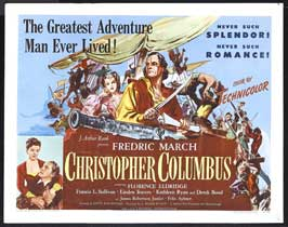 Christopher Columbus - 22 x 28 Movie Poster - Half Sheet Style A