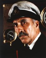 Christopher Lee - Christopher Lee in Navy Attire Close Up Portrait