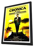 Chronicle of a Death Foretold - 11 x 17 Movie Poster - Spanish Style A - in Deluxe Wood Frame