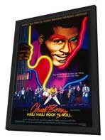 Chuck Berry: Hail! Hail! Rock 'n' Roll - 27 x 40 Movie Poster - Style A - in Deluxe Wood Frame