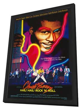 Chuck Berry: Hail! Hail! Rock 'n' Roll - 11 x 17 Movie Poster - Style A - in Deluxe Wood Frame