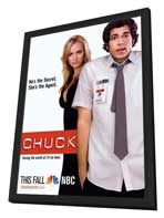 Chuck (TV) - 30 x 40 Movie Poster - Style A - in Deluxe Wood Frame