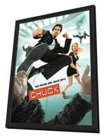 Chuck (TV) - 27 x 40 TV Poster - Style E - in Deluxe Wood Frame