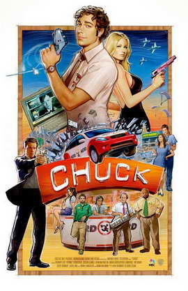 Chuck (TV) - 11 x 17 TV Poster - Style F