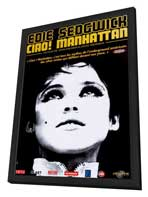 Ciao! Manhattan - 11 x 17 Movie Poster - French Style A - in Deluxe Wood Frame