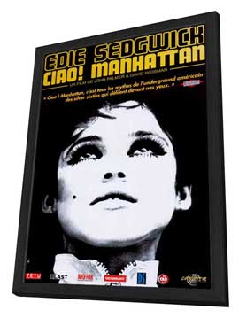Ciao! Manhattan - 27 x 40 Movie Poster - French Style A - in Deluxe Wood Frame