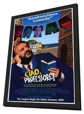 Ciao, Professore! - 11 x 17 Movie Poster - Style A - in Deluxe Wood Frame