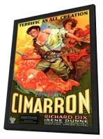 Cimarron - 27 x 40 Movie Poster - Style A - in Deluxe Wood Frame