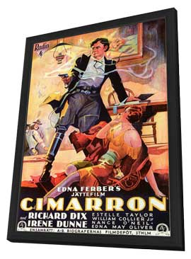 Cimarron - 11 x 17 Poster - Foreign - Style A - in Deluxe Wood Frame