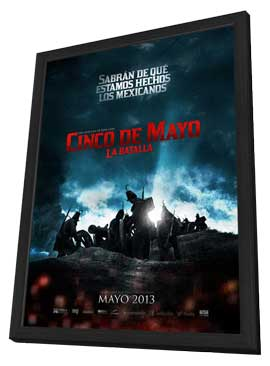 Cinco de Mayo, La Batalla - 27 x 40 Movie Poster - Mexican Style A - in Deluxe Wood Frame