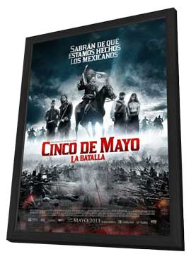 Cinco de Mayo, La Batalla - 27 x 40 Movie Poster - Mexican Style B - in Deluxe Wood Frame