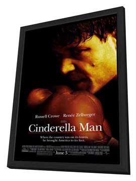 Cinderella Man - 27 x 40 Movie Poster - Style C - in Deluxe Wood Frame