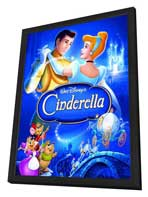 Cinderella - 27 x 40 Movie Poster - Style D - in Deluxe Wood Frame