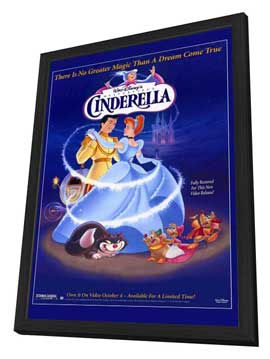Cinderella - 27 x 40 Movie Poster - Style A - in Deluxe Wood Frame