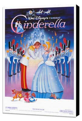 Cinderella - 27 x 40 Movie Poster - Style A - Museum Wrapped Canvas
