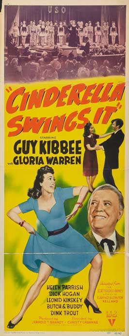 Cinderella Swings It - 14 x 36 Movie Poster - Insert Style A