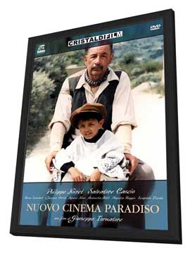 Cinema Paradiso - 11 x 17 Movie Poster - Italian Style B - in Deluxe Wood Frame